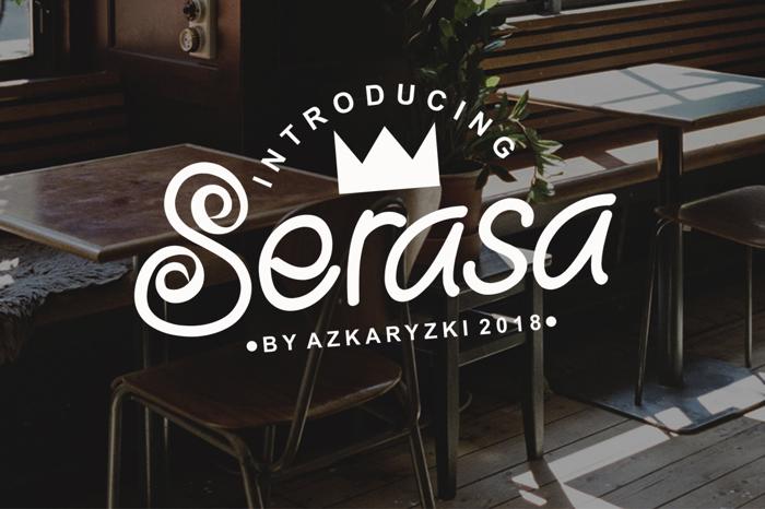 Serasa Font poster