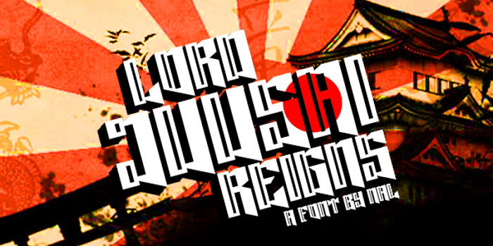 Lord Juusai Reigns Font poster
