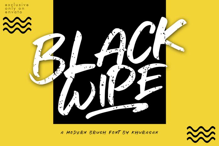 Black Wipe Font poster