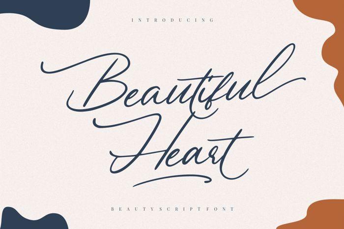 Beautiful Heart Font poster