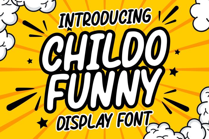 Childo Font poster