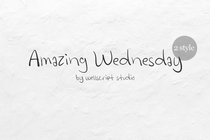 Amazing Wednesday Font poster