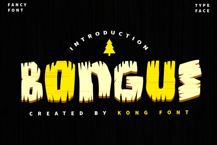 Bongus Font poster