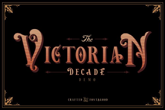 Victorian Decade Font poster