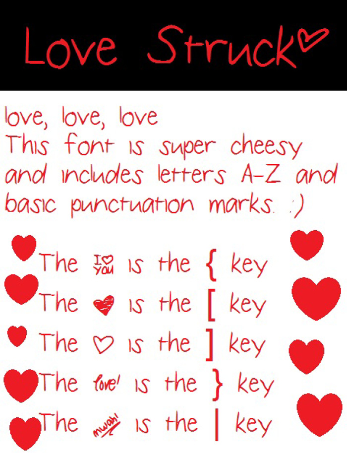 LoveStruck Font poster