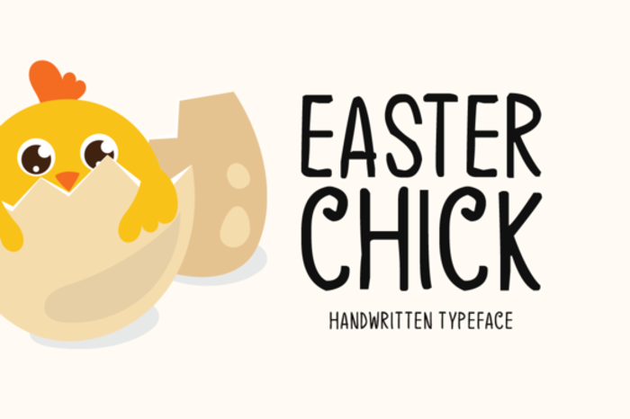 Easter Chick Font poster