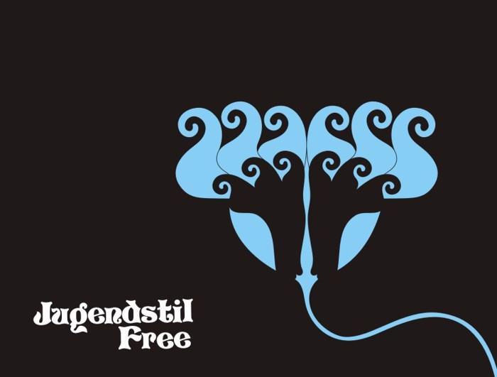 Jugendstil Flowers Free Font poster