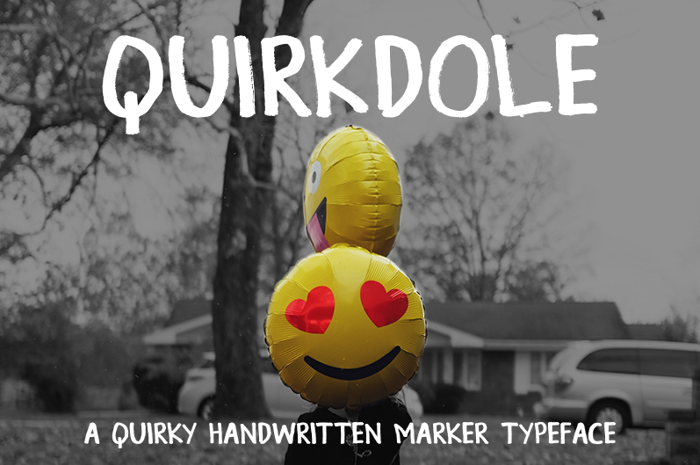 Quirkdole Font poster