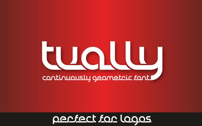 Tually Font poster