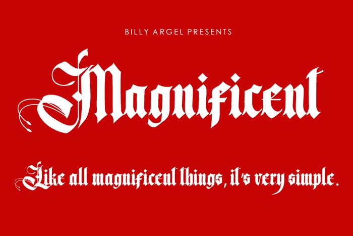 Magnificent Font poster