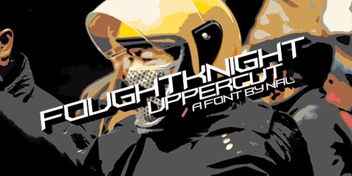 FoughtKnight UpperCut Font poster
