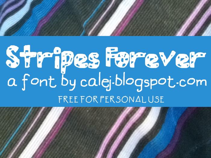 Stripes Forever Font poster