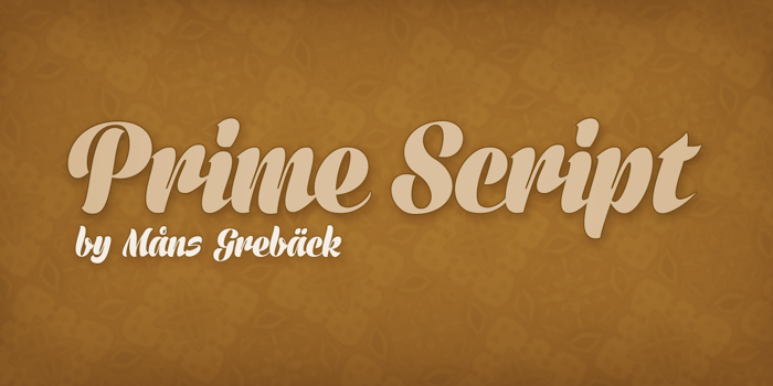 Prime Script Font poster