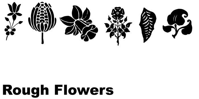 Rough Flowers Font poster