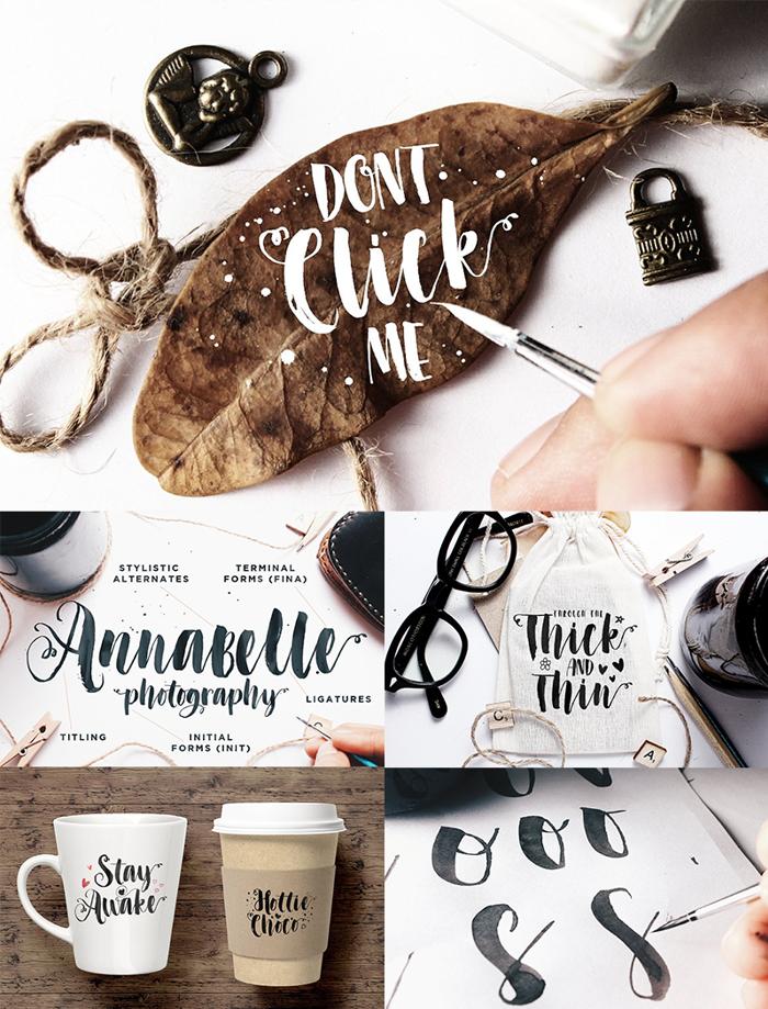 Dont Click Me Font poster