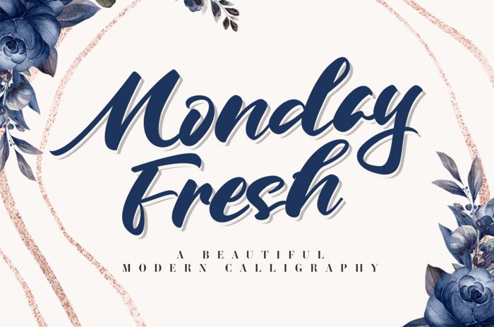 Monday Fresh Font poster