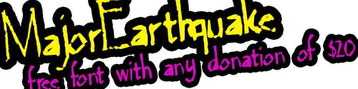 MajorEarthquake Font poster