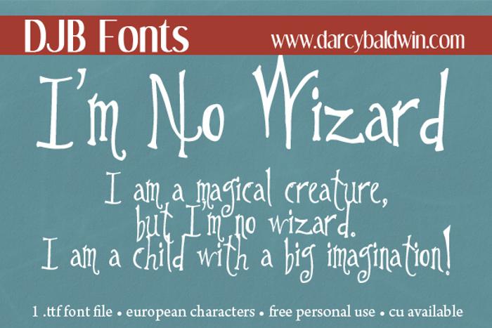 DJB Im No Wizard Font poster