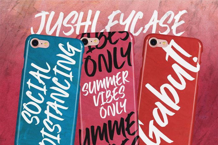 Jushley Shine Font poster