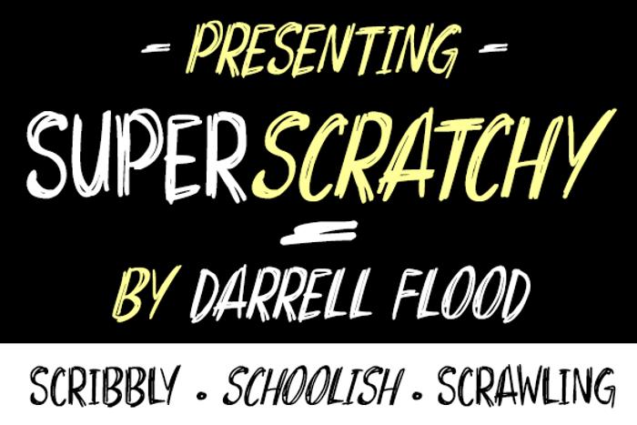 Superscratchy Font poster