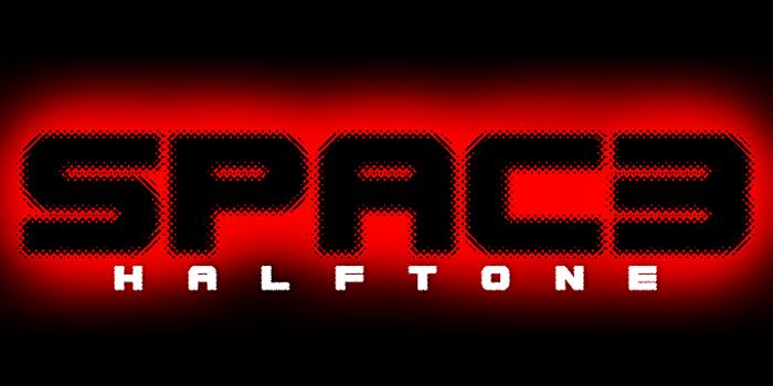 Spac3 halftone Font