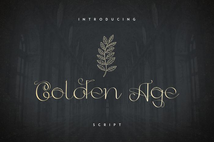 GoldenAge Font poster