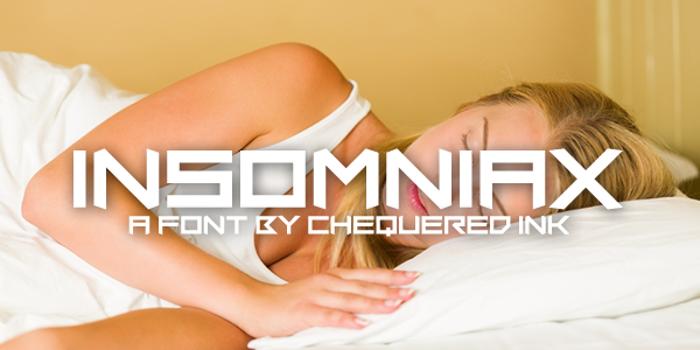 Insomniax Font poster