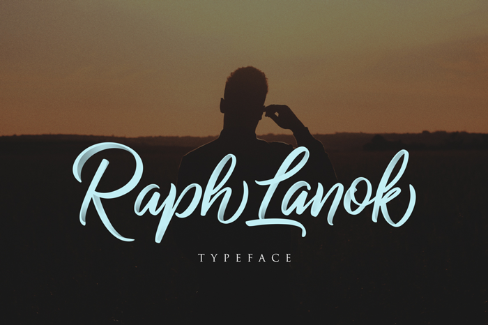 Raph Lanok Future Font poster