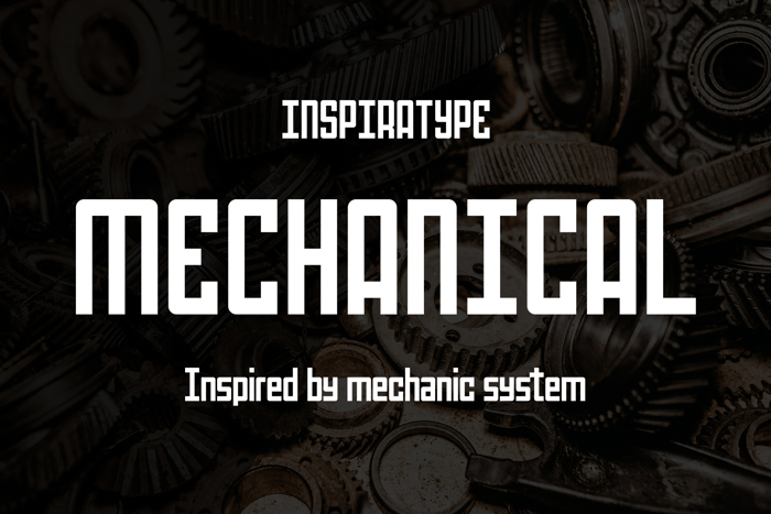 Mechanical Font poster
