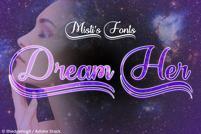 Dream Her Font poster