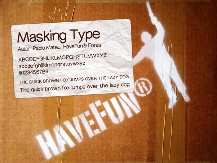 MaskingType Font poster