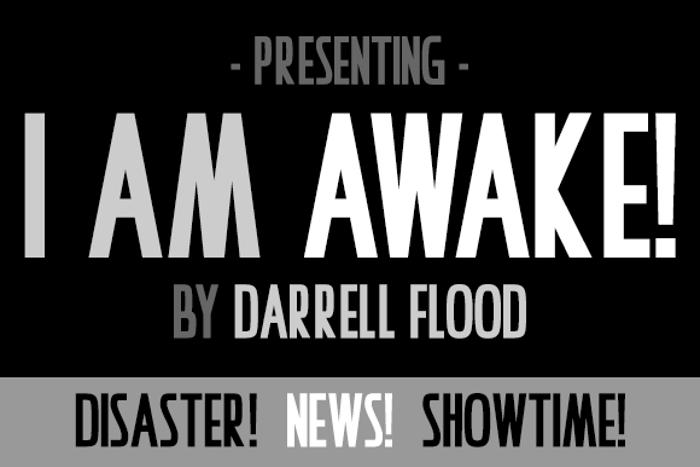 I Am Awake Font poster