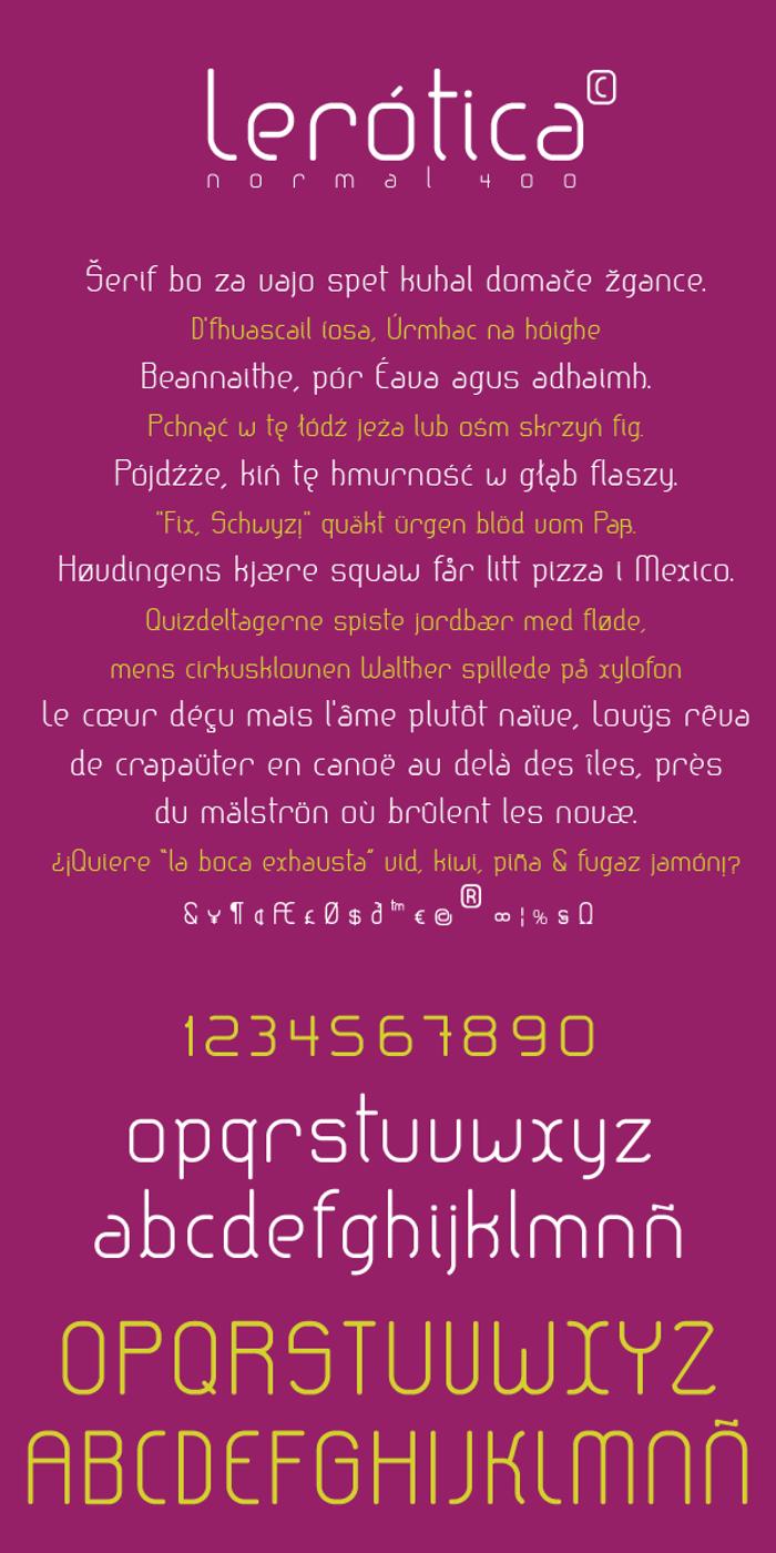 lerotica Font poster