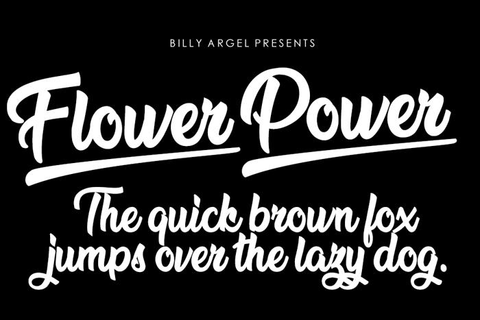 Flower Power Font poster