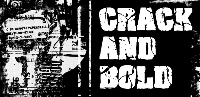 Crack and Bold Font poster
