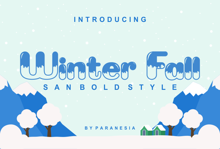 Winter Fall Font poster