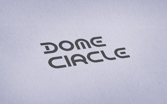Dome Circle Font poster