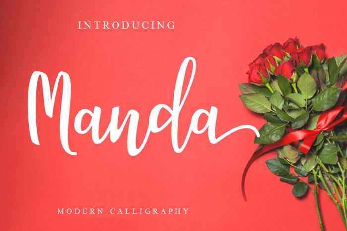 Manda Font poster