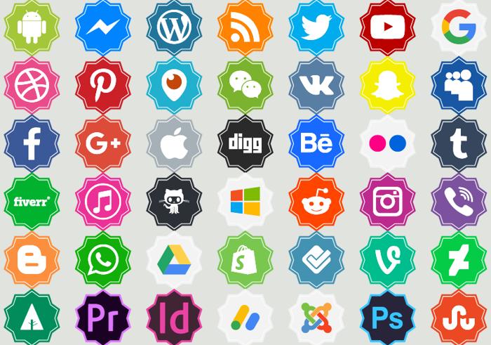 Font logos Color poster