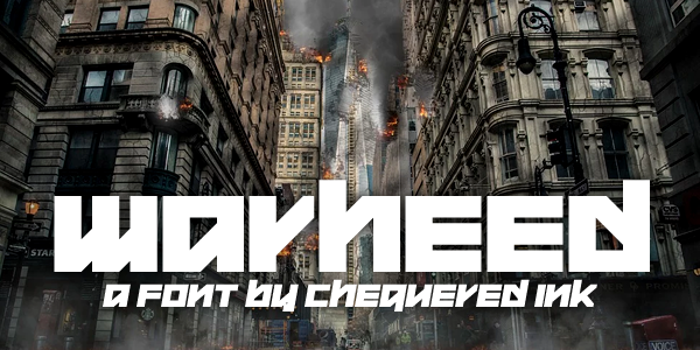 Warheed Font poster