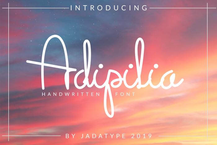 Adipilia Font poster