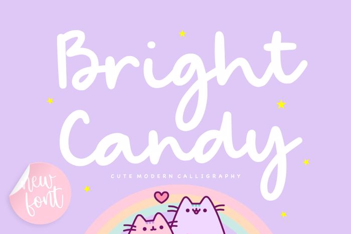 Bright Candy Font poster