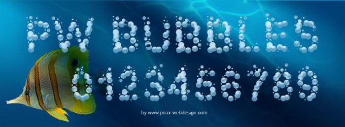 PWBubbles Font poster