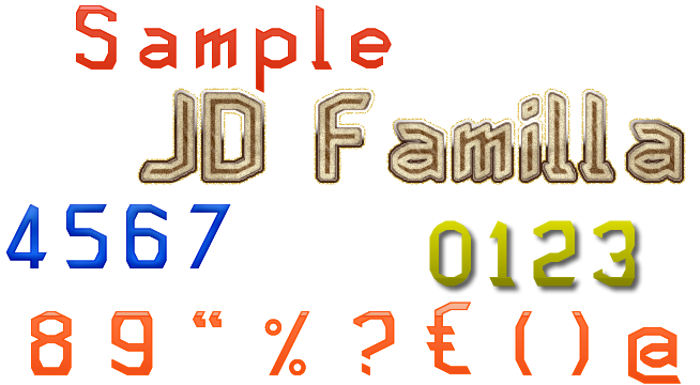 JD Familla Font poster