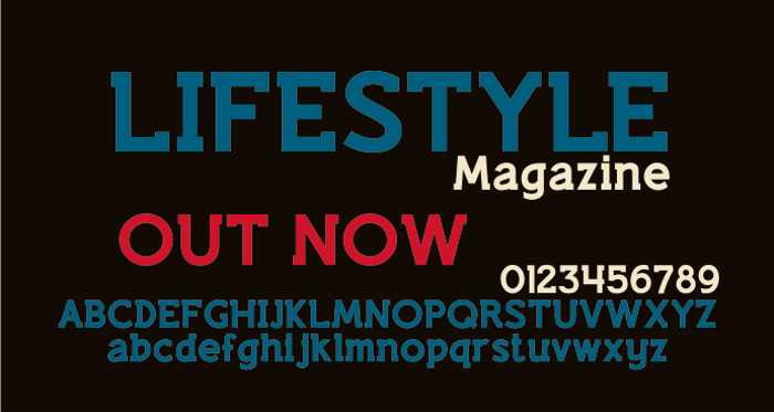 Lifestyle M54 Font poster