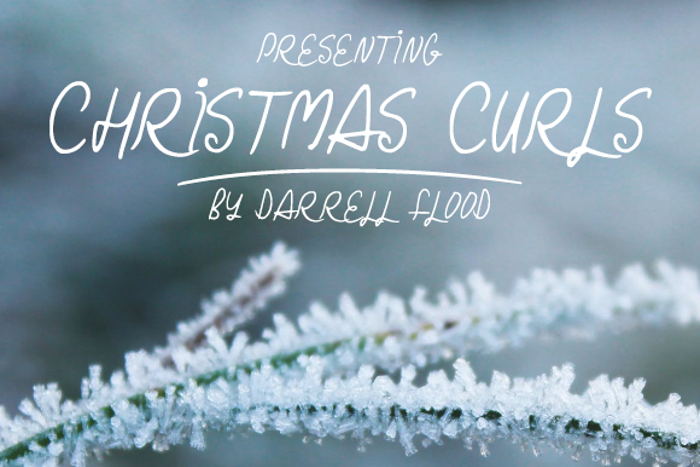 Christmas Curls Font poster
