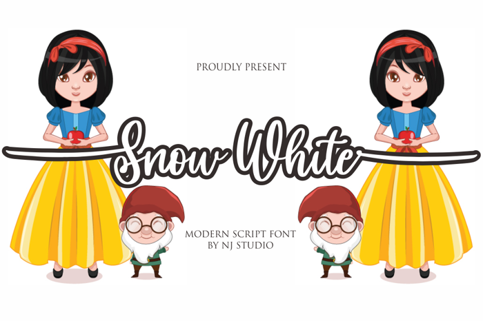 Snow White Font poster