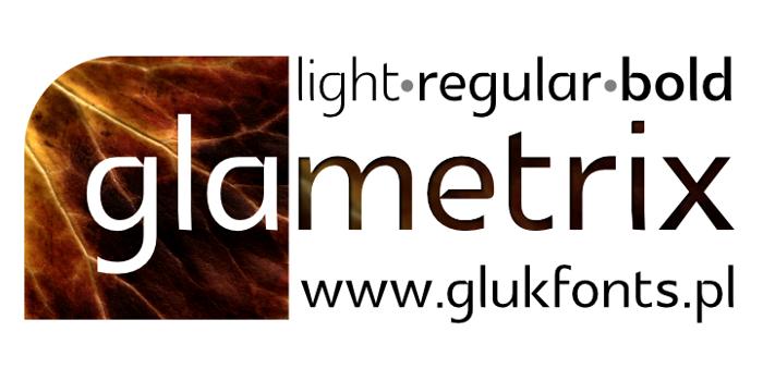 Glametrix Font poster