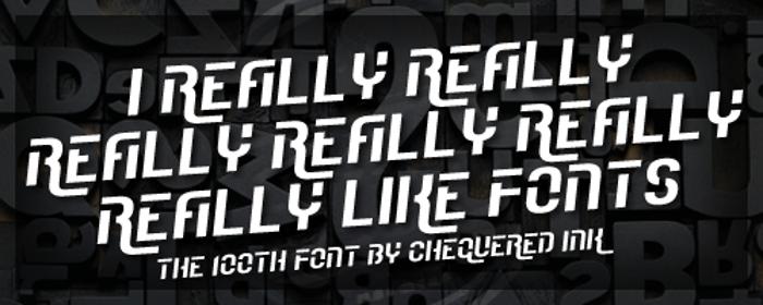 I Really Really Really Really R Font poster