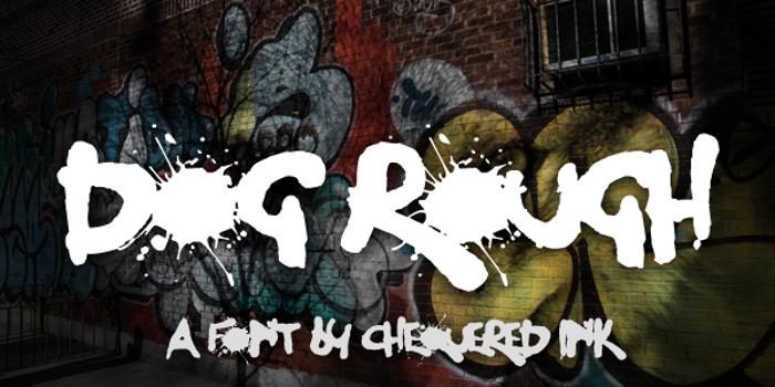 Dog Rough Font poster